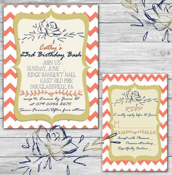 Printable Party  Invitation Set :  Invitation  by SansDesignDeck