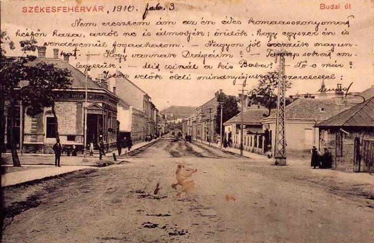 Székesfehérvár, Budai út, 1910 (József Attila u. jobbra, Deák F. u. balra)