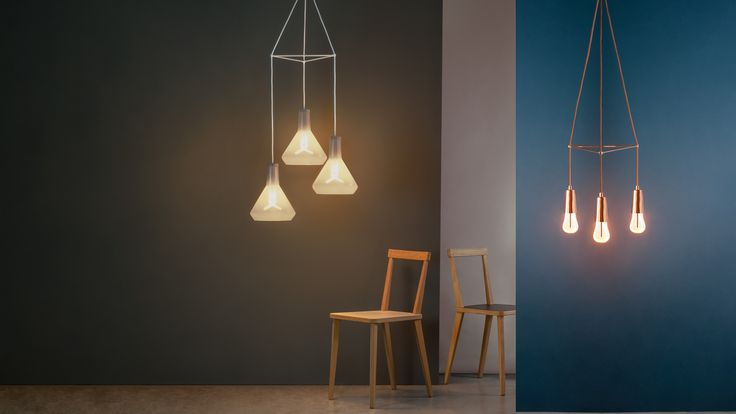 Plumen has launched a self-assembly kit that lets people build their own modular chandeliers without using ceiling hooks.