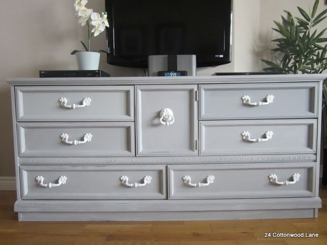 Dressers can be used just about any where at home. Here's one used as a media center. Click through for more great ideas.
