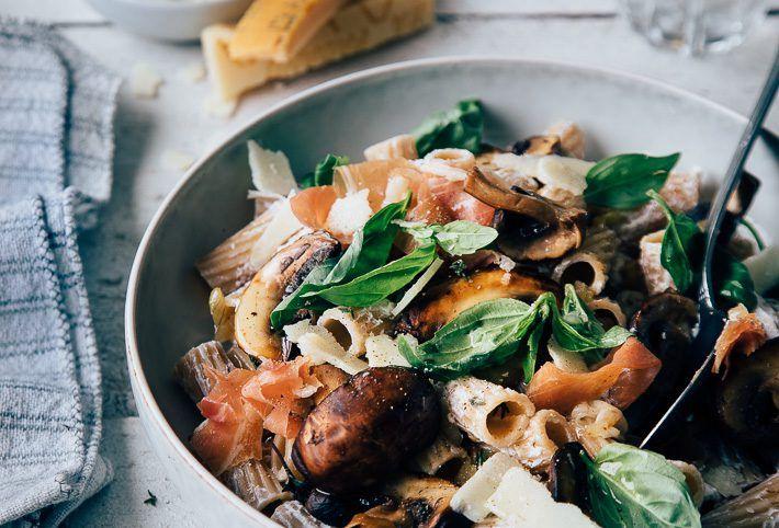 Pasta Recept Met Paddestoelen En Snelle Ricottasaus Uit Pauline S Keuken Recept Eten Diners Pasta Recepten Diner