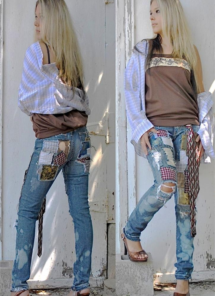 patches     reminds me of jeans i had in the 70's-virtually held together only by patches