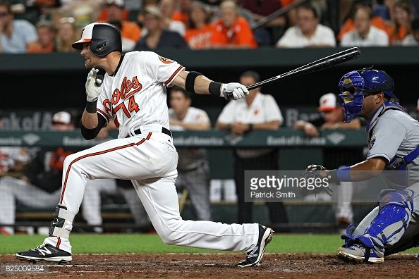 News Photo : Craig Gentry of the Baltimore Orioles hits a...
