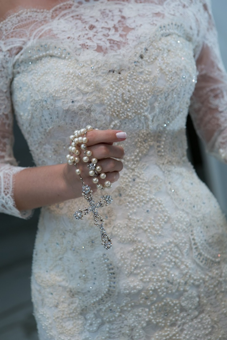 Lace and custom rosary. Lethicia Bronstein.