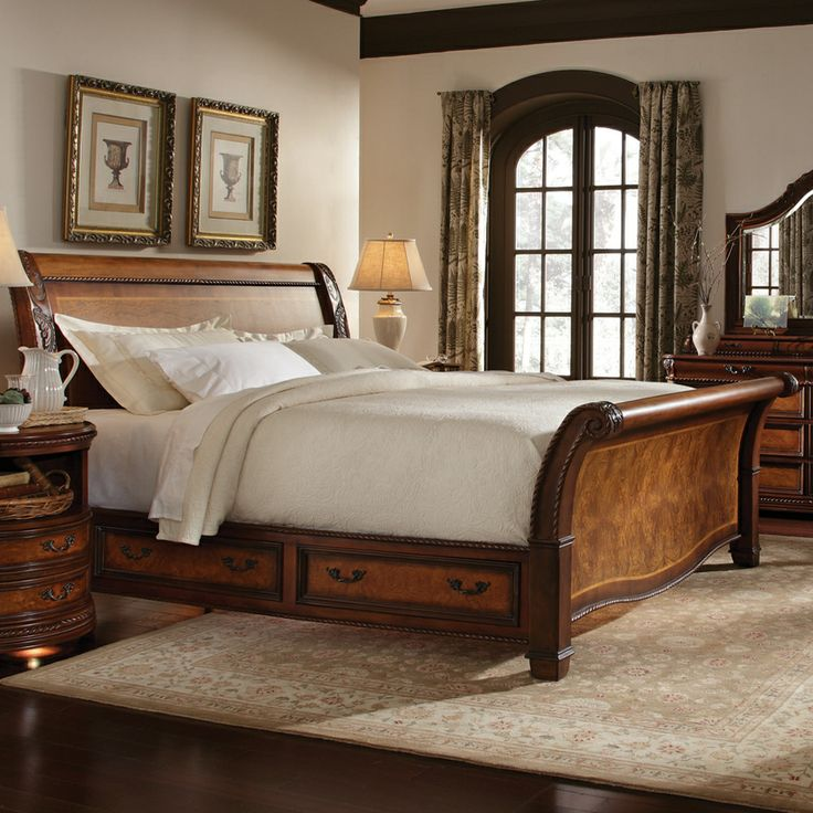 Exceptional Rutherford Storage Sleigh Bed By Humble Abode Signature