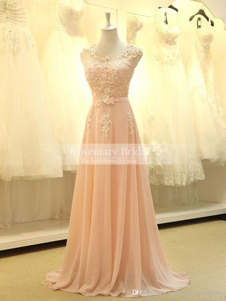 Two Piece Bridesmaid Dresses 2016 New Arrive A Line Lace Appliques Pearls Long Floor Elegant Jewel Illusion Pink Bridesmaid Dresses Short Sleeve Spring Garden Prom Dress Asian Bridesmaid Dresses From Rosemarybridaldress, $93.2| Dhgate.Com