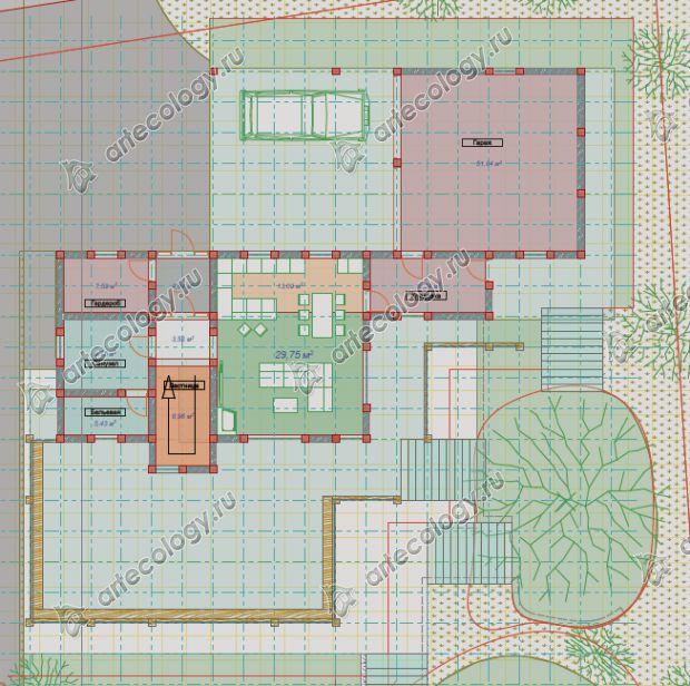 Основной этаж дома на склоне или второй по счету