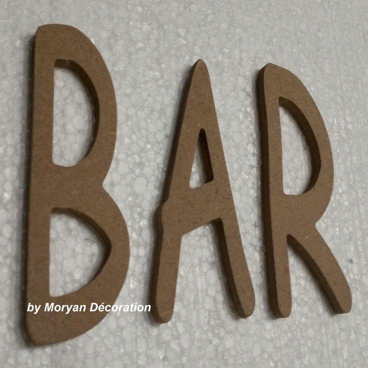 lettres d coratives en bois peindre ou d corer bar lettres d coratives en bois peindre. Black Bedroom Furniture Sets. Home Design Ideas
