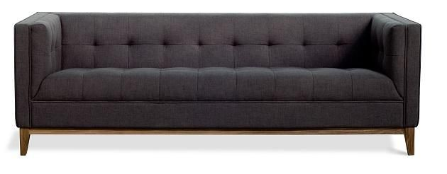 Tailored sofa in charcoal