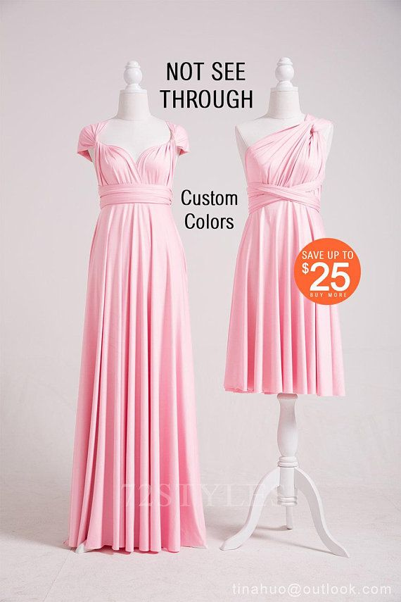 Convertible Dress Blush Pink, C… | Multi way dress, Blush ...