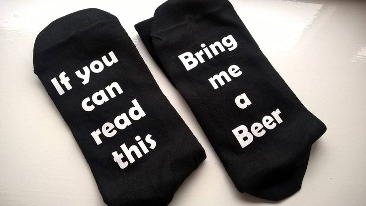 If you can read this ..... Bring me a Beer ..... Novelty Socks, Fun, drinking, Birthday, Christmas, Xmas, gifts for him by ImprintProducts on Etsy