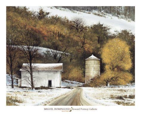 Rural Winter Print by Miguel Dominguez at Art.com