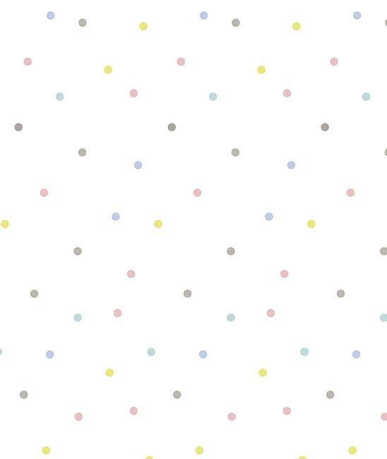 Papel pintado niños lunares multicolor - Papel pintado para niñas - Descubre ahora - Papel pintado