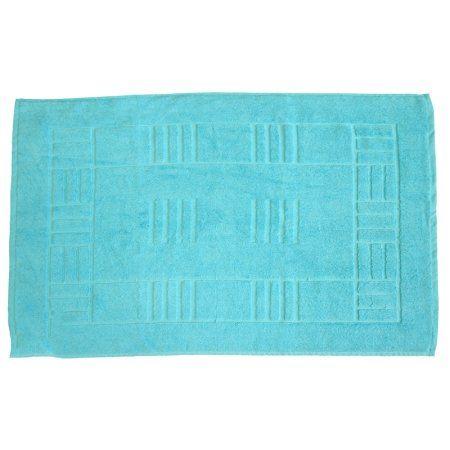 Just Contempo Egyptian Cotton Bath Mat, Orange: Amazon.co.uk: Kitchen & Home