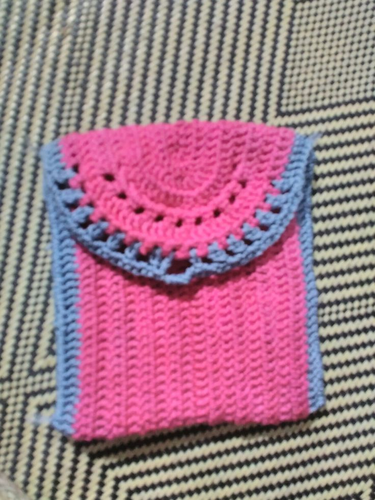 Pink grey coin purse