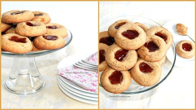 Biscotti alla crema di arachidi e gelatina