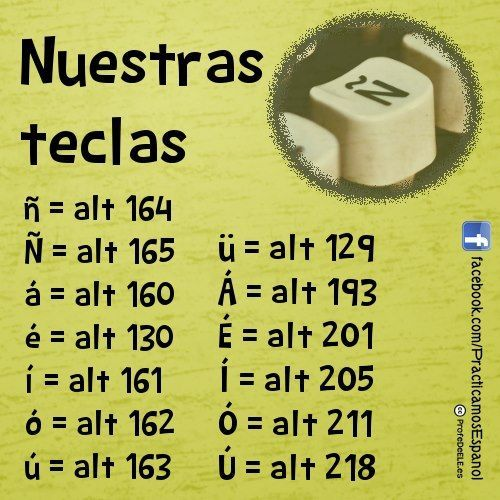 Spanish letters: