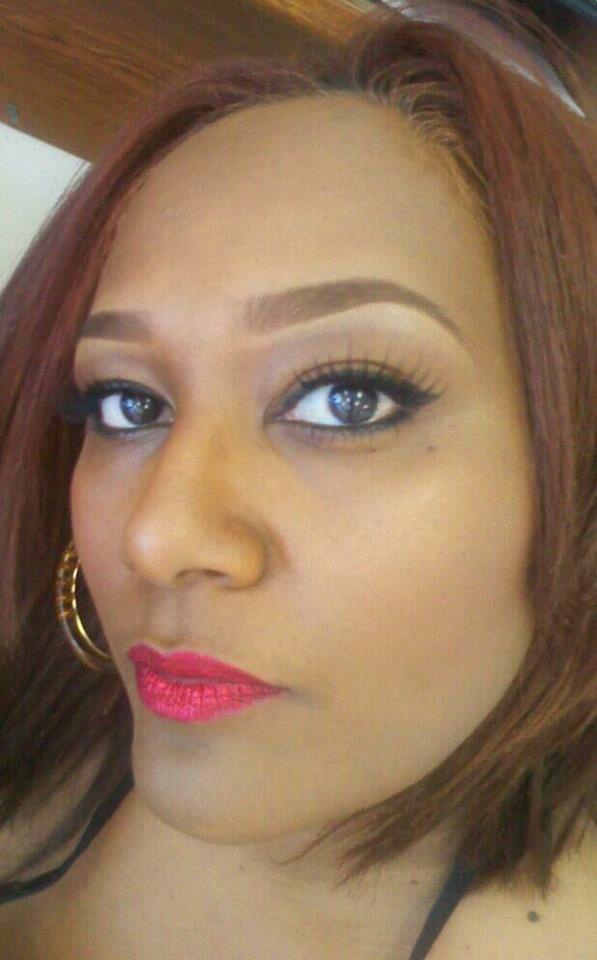 Red lips and liquid eyeliner #jafra
