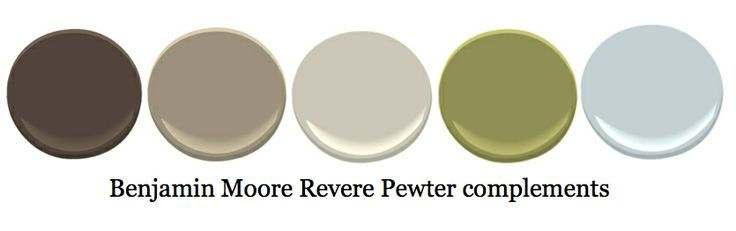 Colours to go with revere pewter