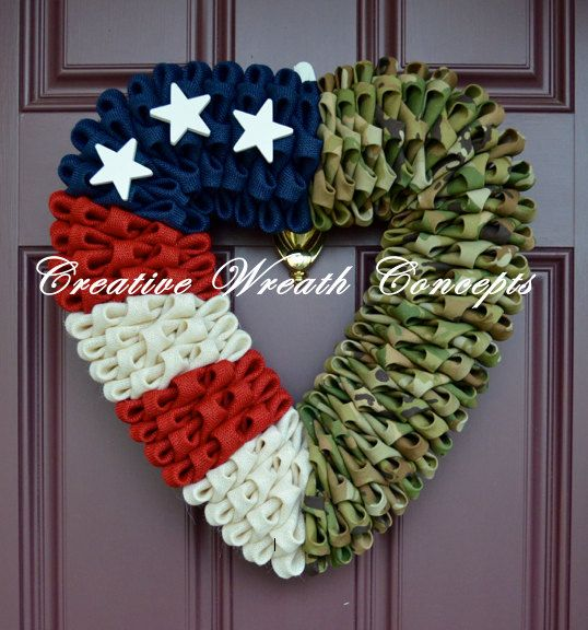 Heart Military Wreath  Army OCP NEW CAMO by CreativWreathConcept