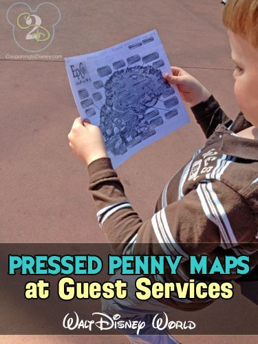 Pressed Pennies are an inexpensive Disney souvenir and you can stop by guest services for a map of all the pressed penny machines so you don't miss one!