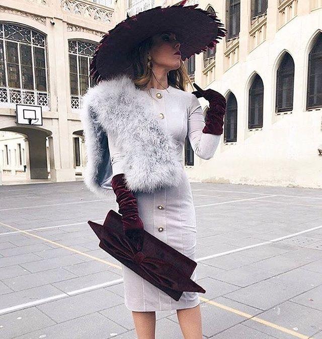 Evening outfit ideas #fashion #outfitoftheday #dress #hat