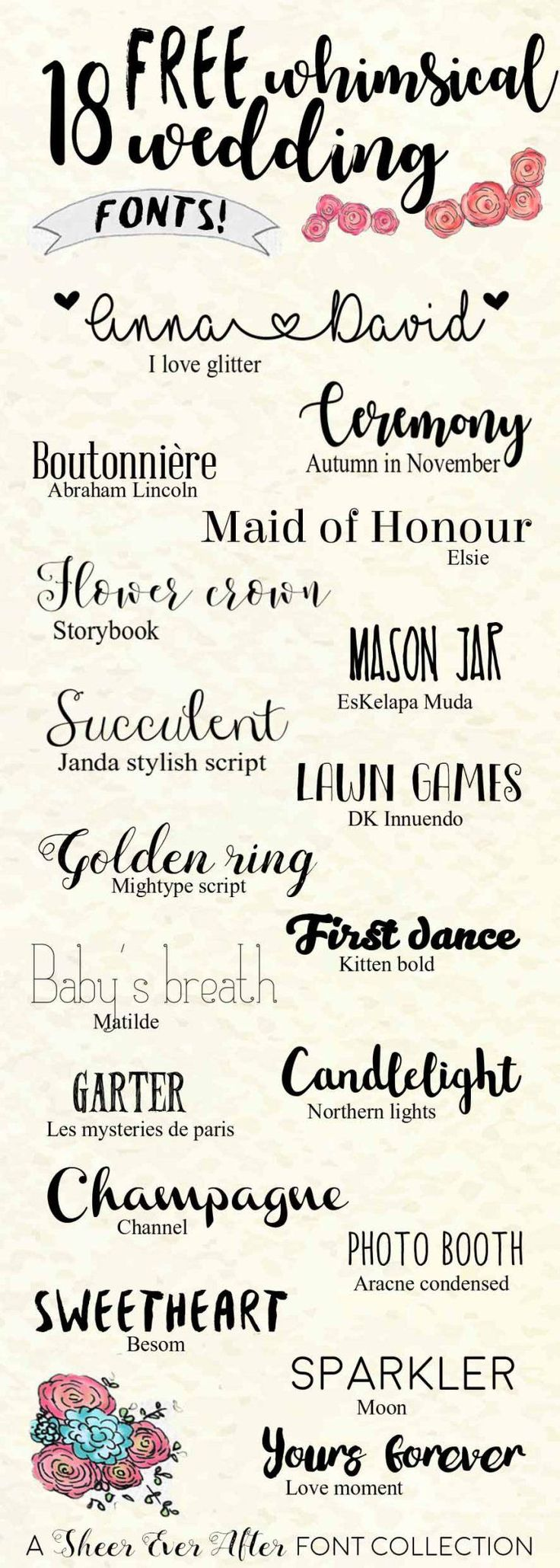 whimsical wedding fonts - Fonts For Wedding Invitations