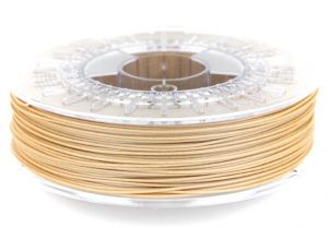 It even smells good while printing: Wooden 3D printing filament (source: Colorfabb) Wood fills aren't affected by weather conditions the way other fills are. They're also known for their acoustic properties. In addition to jewellery parts and home decorations, wood fills can also be used to create a variety of beautiful musical instruments.