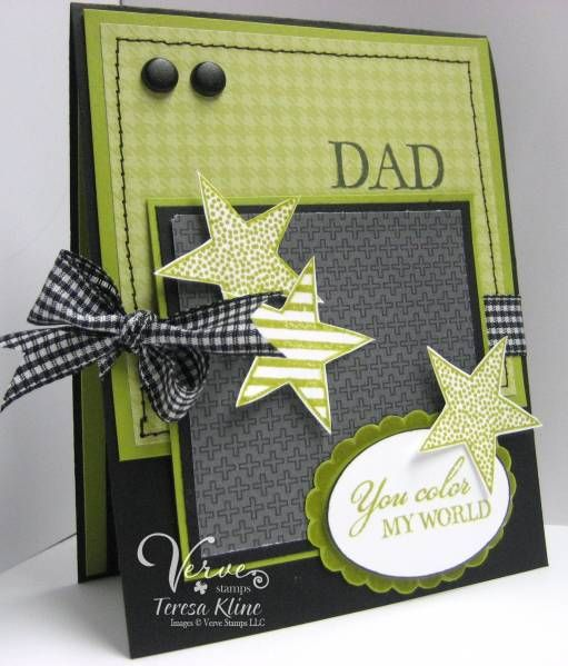 89 best fathers day cards images on pinterest masculine green and black handmade fathers day card with some flair stars and bows and scallops m4hsunfo