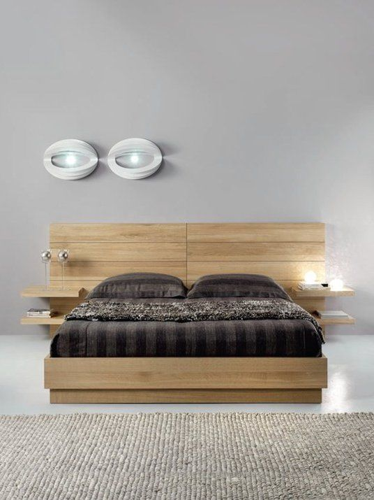 Love that the bed could have LED strip lighting hidden under the lip to create a soft light.