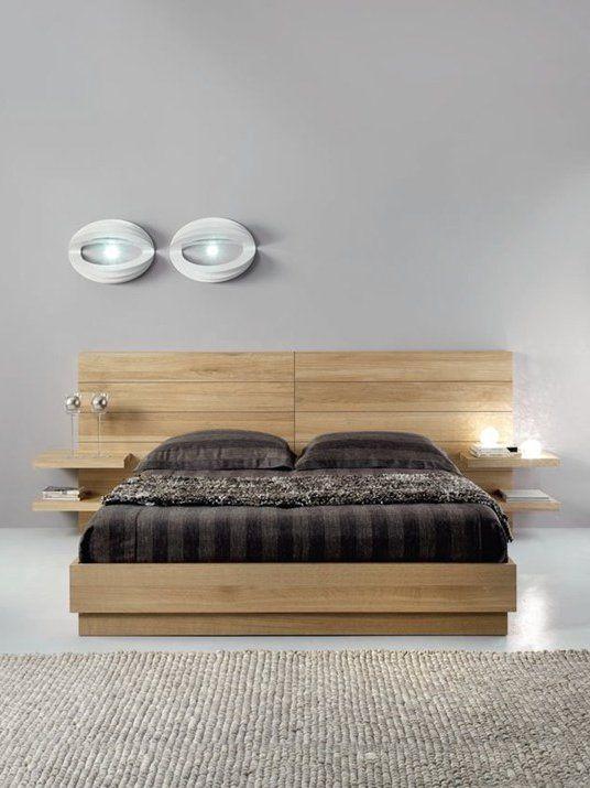 Oak double #bed FLYER by Domus Arte #bedroom #wood