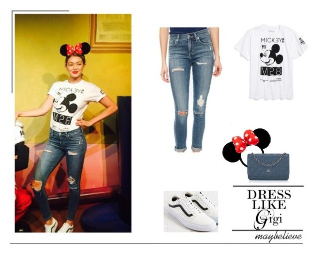 Gigi Hadid #4 by maybelieve on Polyvore featuring moda, A Gold E, Vans, Chanel, Disney and Neff