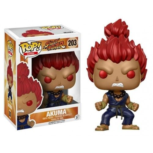 Funko Akuma, Gamestop Exclusive, Street Fighter, SF, Games, Funkomania