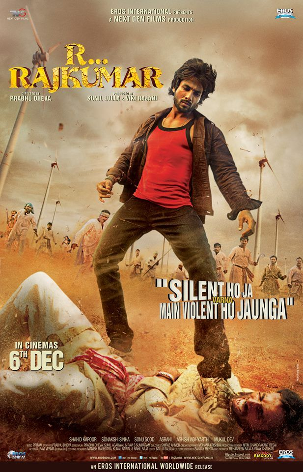 R... Rajkumar poster featuring Shahid Kapoor. #Bollywood #Movies ... Watch Bollywood Entertainment on your mobile FREE : http://www.amazon.com/gp/mas/dl/android?asin=B00FO0JHRI