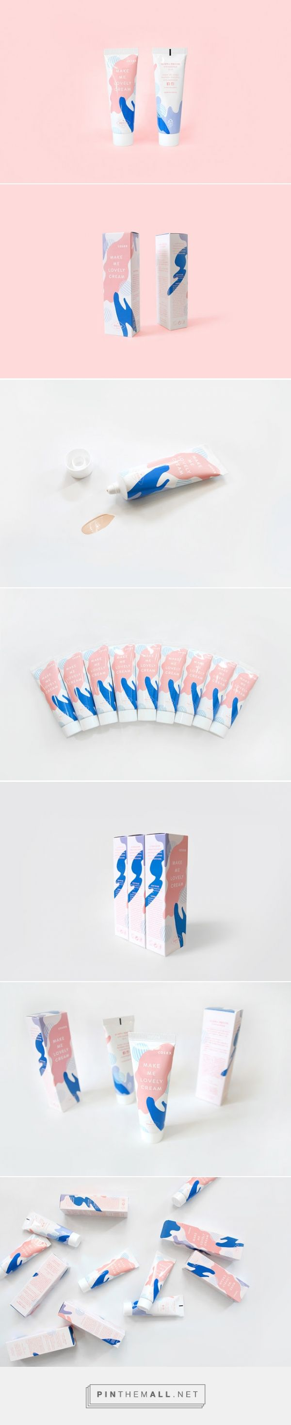 Make Me Lovely Cream packaging designed by Triangle Studio - http://www.packagingoftheworld.com/2015/09/make-me-lovely-cream.html