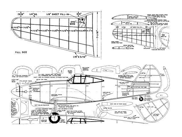Curtiss P-40 - plan thumbnail