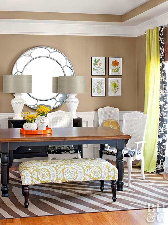 Light It Right Choose and place lighting that adapts to the room's functions. For example, hang the chandelier with extra cord length so it can be adjusted for homework or dining. Use dimmer switches, lamps, and sconces to set the mood for the occasion.