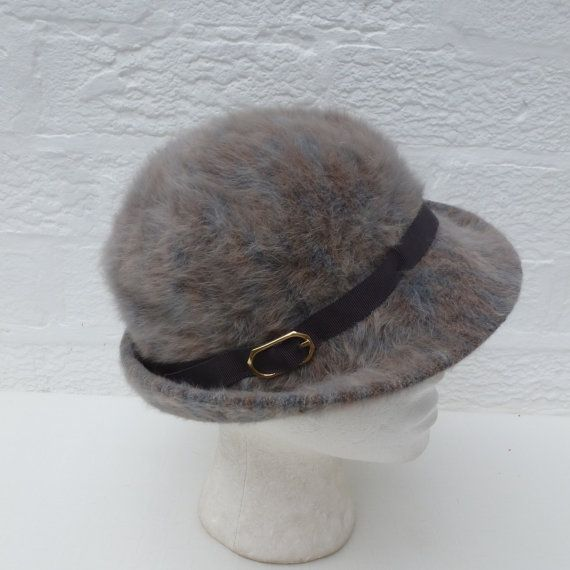 Womens hat ladies winter hat 60s womens 1960s hat by Regathered, £21.95