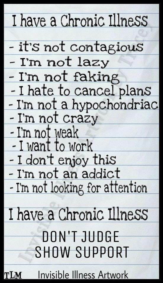 Chronic illness meme