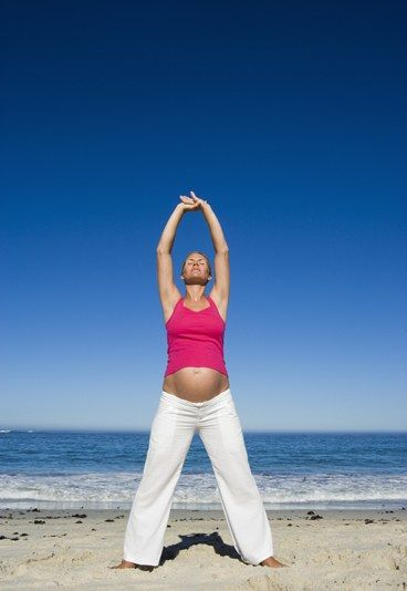 """Gymnastik Fehlgeburten - Ratschläge in der Schwangerschaft! - Gerücht Nr. 10: """"Ich bin im 3. Monat schwanger und mache immer noch Gymnastik. Meine Schwester hat mich davor gewarnt, die Arme nicht mehr nach oben zu strecken, weil das eine Fehlgeburt auslösen könnte..."""