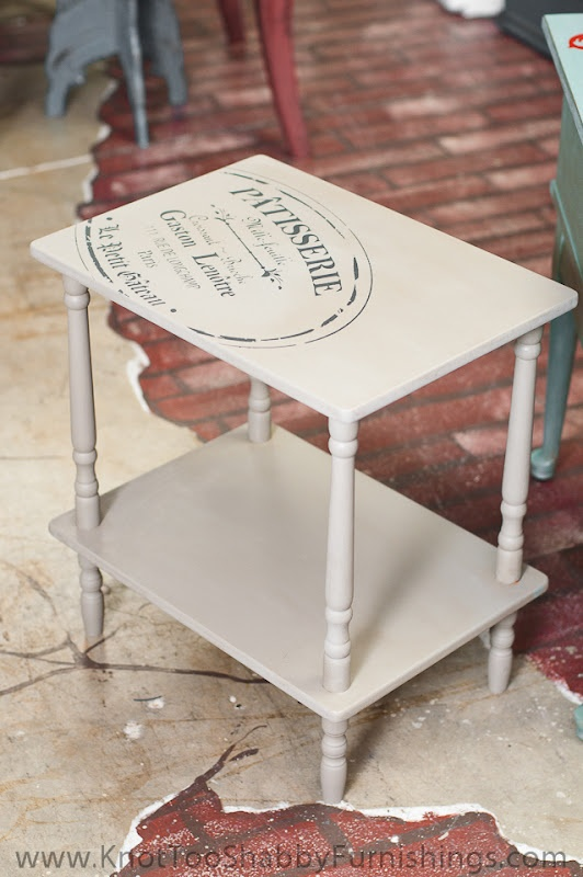 chalk paint table with image transfer