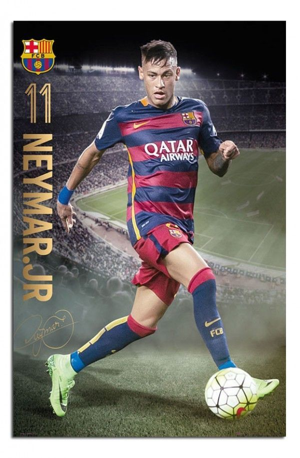 See Barcelona Player Neymar In Action With This Soccer Poster Shop Our Posters At Posterservice