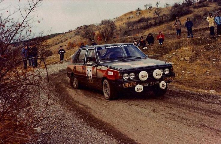 FSO Polonez 2000 Rally GR IV – Wolf Racing Załoga: Andrzej Jaroszewicz i Ryszard Żyszkowski podczas Rajdu Monte Carlo.