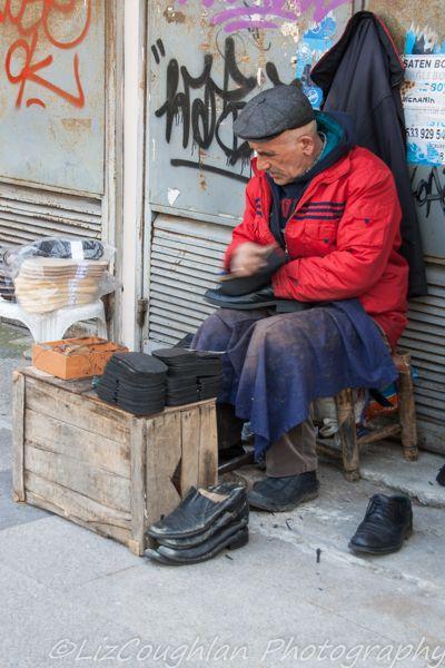 Shoe Cleaner in Eminonu, Istanbul