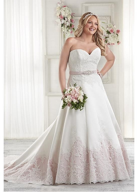 Marvelous  Sweetheart Neckline A-line Plus Size Wedding Dresses with Lace Appliques