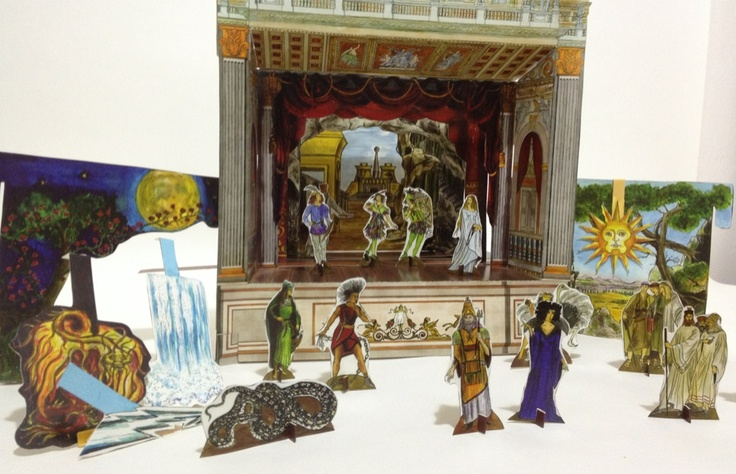 Paper theaters Magic Flute