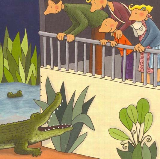 praatplaat krokodil