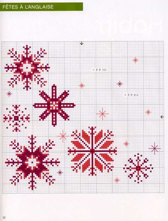 A chart for making stitched snowflakes -  Gallery.ru / Фото #32 - 909 - Yra3raza