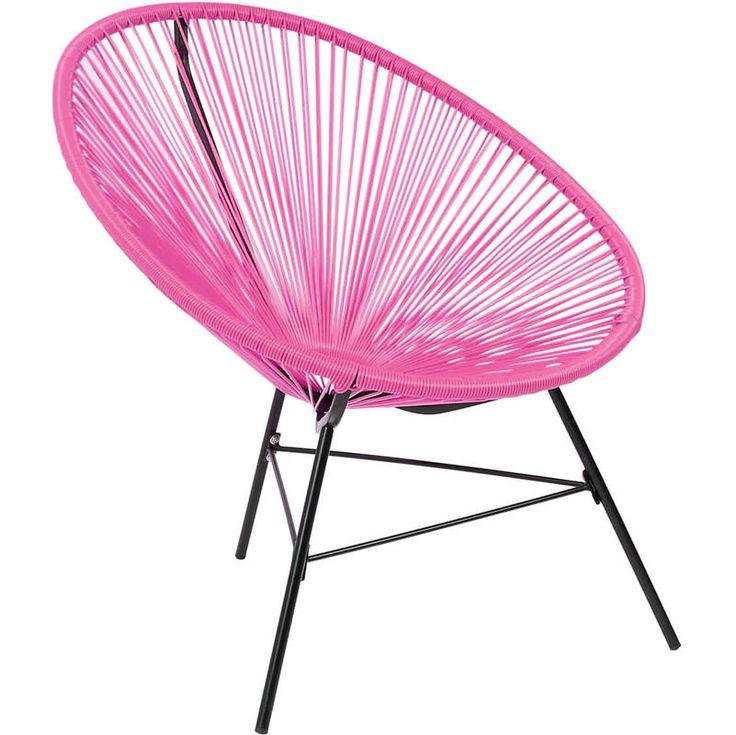 Charles Bentley Garden Furniture Retro Rattan Lounge Conservatory Chair Pink - GLACAPCH01P - Garden and Outdoor