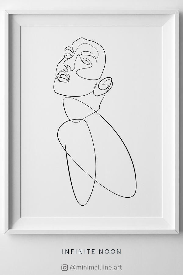 Abstract Nude Line Art, Woman Figure Line Print, One Line Drawing Artwork, Feminine Minimal Art, Printable Fine Art, Female Sketch Artwork – Valentina Baltzi